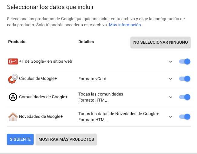 bajar los datos de googleplus antes del cierre